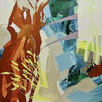 baum-rost - acryl auf leinwand, H 125 x B 160 cm