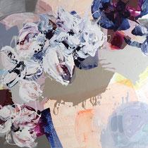 florale impressionen W-Apr-Fu - acryl auf leinwand,  H 110  x B 140 cm