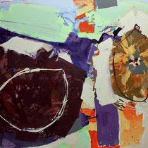 waldfrüchte - acryl auf leinwand,  H 120 x B 160 cm