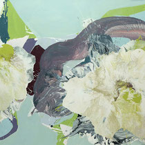 floral gewunden - acryl auf leinwand, H 95 x B 180 cm