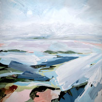 winterbild - acryl auf leinwand, H 160 x B 120 cm