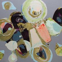 herbstbeet-2 - acryl auf leinwand, H 125 x B 160 cm