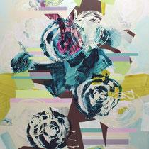 turbulenz I - acryl auf leinwand, H 160 x B 120 cm