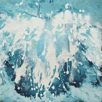 kleine wellen - acryl auf leinwand, je 40 x 40 cm
