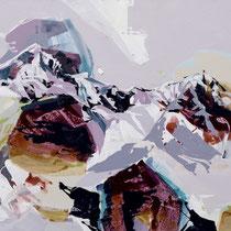 wetterstein lila-bordeaux - acryl auf leinwand, H 110 x B 180 cm