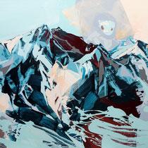 berge blau - acryl auf leinwand, H 120 x B 160 cm