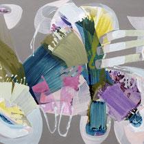 Komposition B-R-G - acryl auf leinwand, H 110 x B 140 cm