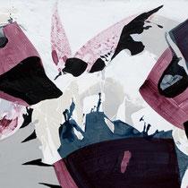 hinein ins wilde leben I  - acryl auf leinwand, H 195 x B 180 cm