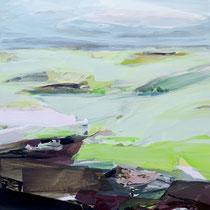 am Moor II - acryl auf leinwand, H 160 x B 120 cm