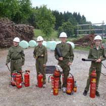 Feuerlöscherübung Juni 2011