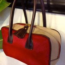 真っ赤なハラコプリント!秋冬、ブーツに合わせてもかわいいです!