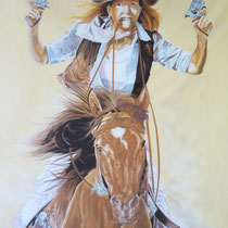 Airbrush auf Leinwand Masse B 140 cm x H 148 cm