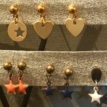 Boucles d'oreilles fillettes et femmes pour oreilles percées ou non ; étoiles émaillées 12 et 13€