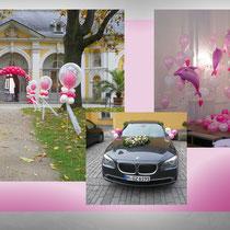 Luftballon-Dekoration Hochzeit Gartenpavillon Juliusspital Würzburg