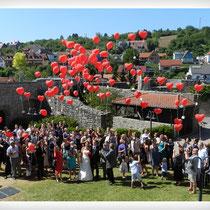 Ballon-Weitflug Schloß Grumbach Rimpar