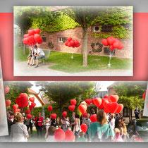 Ballon-Weitflug Hochzeit Franckhaus Marktheidenfeld