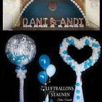 Luftballon-Dekoration Hochzeit