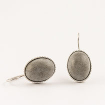 earrings concrete, silver