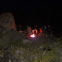 Lagerfeuer darf nicht fehlen