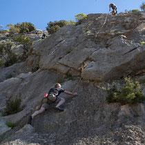 endlich wieder einmal Klettern in Cala Ganone
