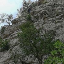 zum Abschied nochmals Fels unter den Händen (Ausfahrt Cala Sisine)