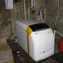 Chaudière fioul condensation DE DIETRICH GTU C 120 35 kW avec régulation en fonction de la température extérieure