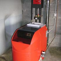 Chaudière Fioul Condensation OERTLI PUR 150 25 kW avec régulation en fonction de la température extérieure
