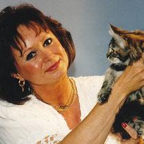 Birgitta Kuhlmey auf einer Katzenausstellung, Foto: Wallura