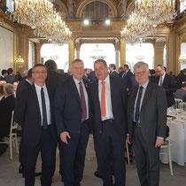 De gauche à droite : Nicolas Fricoteaux, président du Conseil départemental de l'Aisne, Jacques Krabal, Jean-Paul Roseleux, et Yves Daudigny, sénateur de l'Aisne.