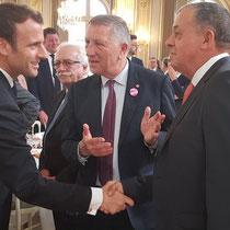 Jacques Krabal au centre et Jean-Paul Roseleux, maire de Fère-en-Tardenois