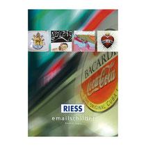 Katalog RIESS EMAILLE-SCHILDER