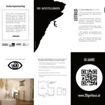 Galerie 20gerhaus Jubiläums-Poster (Ausschnitt)