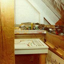 1984-1988 | Au» | Veltheim | Estrichanlage | Spur N  | Gleisbild-Stellpult