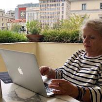 Boutique-Hotel Pallas Athena: «Administration» auf der Restaurant-Terrasse