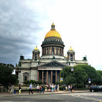 St. Petersburg | Isaakskathedrale | Grösste Kirche der Stadt | 97 m breit, 101,5 m hoch | Platz für 14'000 Menschen | Fundament aus 20'000 Baumstämmen