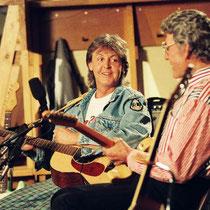 Paul McCartney and Carl Perkins