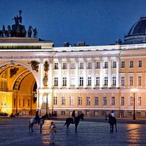 *St. Petersburg | Stadtrundfahrt | Generalstabsgebäude vom Schlossplatz her gesehen
