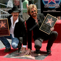 Brooks and Dunn receive a star on the Hollywood Walk of Fame on Hollywood Blvd in Los Angeles, ...