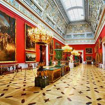 St. Petersburg | Eremitage | Kunstsammlung | Zwischen 2 & 3 Millionen Besucher pro Jahr | Rund 350 Räume | Ca. 2, 7 Millionen Exponate