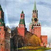 Moskau | Kreml | «Alarm-» & «Erlöserturm» | 1490er Jahre | Architekt Pietro Antonio Solari / Zeltdächer 17. Jh.