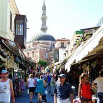 2013 | Rhodos-Stadt | Sokratesstraße mit Süleimann-Moschee |