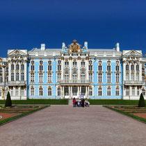 Puschkin | Katharinenpalast | Totale von der Parkseite her aufgenommen