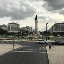 Parça Marquês de Pombal mit der Statue des Marquês de Pombal