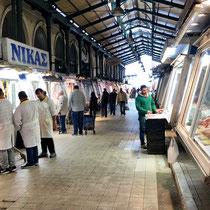 «Central Market», Athens berühmter Fleisch- und Fischmarkt