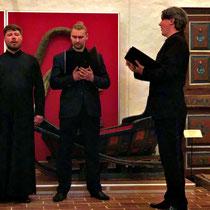 Gorizy | Kirillo-Beloserski-Kloster | Unter den vielen Chören, welche wir auf der Reise gehört haben - diese 4 Mönche waren mit Abstand die Besten!