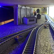 2021 | Einfahrt in den 10-gleisigen Schattenbahnhof.