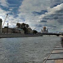 Moskau | Moskwa | Sophienufer und Samoskworetschje | «Christi-Erläser-Kirche» im Hintergrund