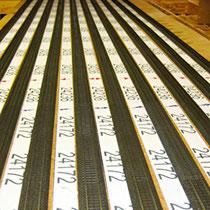 2007 |2007 | Gleisverlegung | Stellprobe | Gleise nach einem Giganto-Gleissplan-Ausdruck zu platzieren