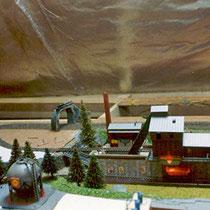 1984-1988 | Au» | Veltheim | Estrichanlage | Spur N | Kiesswerk mit automatische Be- und Entladung