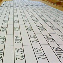 2007 | Gleisverlegung | Stellprobe | Gleise nach einem Giganto-Gleissplan-Ausdruck zu platzieren